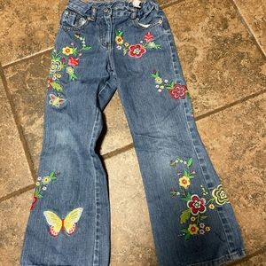Mini Boden Girls Embroidered Jeans